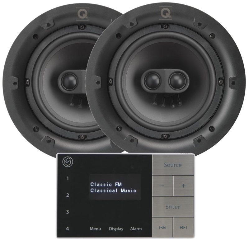 Två stereo takhögtalare
